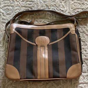 Vintage Authentic Fendi Genuine Leather Crossbody